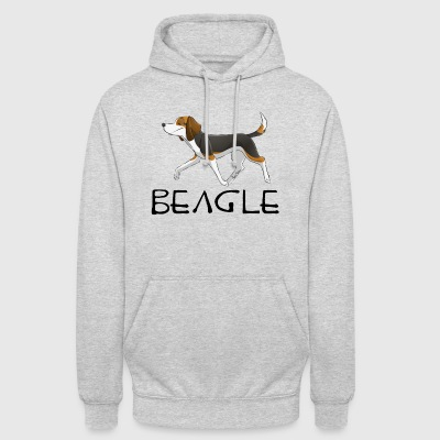Beagle - Sweat-shirt à capuche unisexe