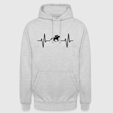My heart beats for horses! present - Unisex Hoodie