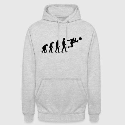 évolution du football - Sweat-shirt à capuche unisexe