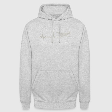 Gift heartbeat small plane - Unisex Hoodie