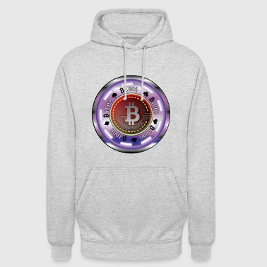 Poker chip with bitcoin - Unisex Hoodie