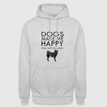 Dogs make me happy dogs pet gift idea - Unisex Hoodie