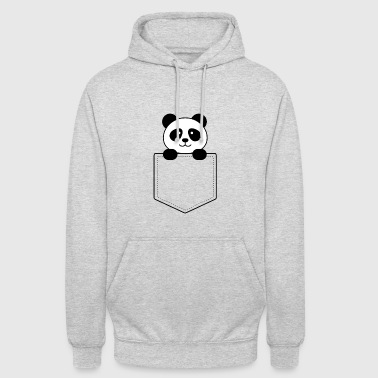 Panda baby in the vest pocket - Unisex Hoodie