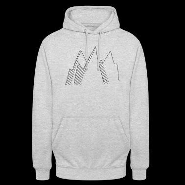 Mountains clipart - Unisex Hoodie