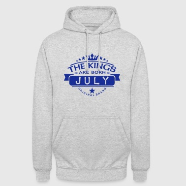 july kings born birth month crown logo - Unisex Hoodie