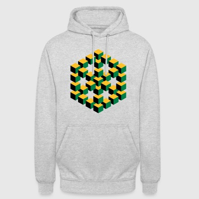 impossible figure Escher cube geometry fantasy - Unisex Hoodie