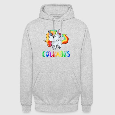 Unicorn Columbus - Sweat-shirt à capuche unisexe