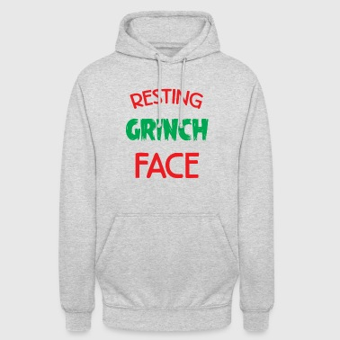 Resting Grinch Face Christmas Xmas Gift - Unisex Hoodie