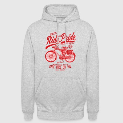 RIDE WITH PRIDE - Bicycle and bike shirt motif - Unisex Hoodie
