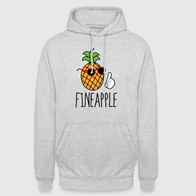 Pineapple summer sunglasses design gift - Unisex Hoodie