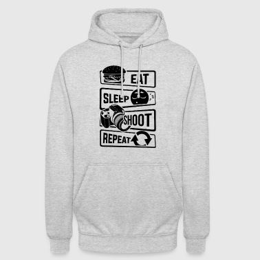 Eat Sleep Shoot Repeat - Camera Photography Photo - Unisex Hoodie