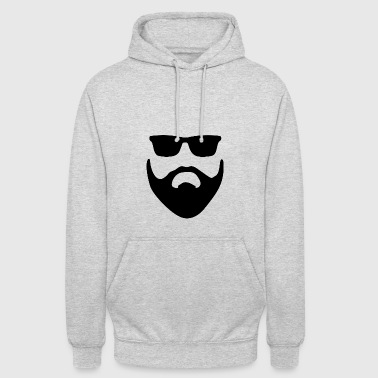 barbe - Sweat-shirt à capuche unisexe