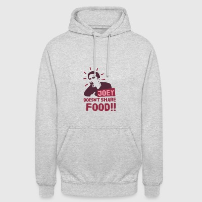 Joey-doesnt-share-food-red - Unisex Hoodie