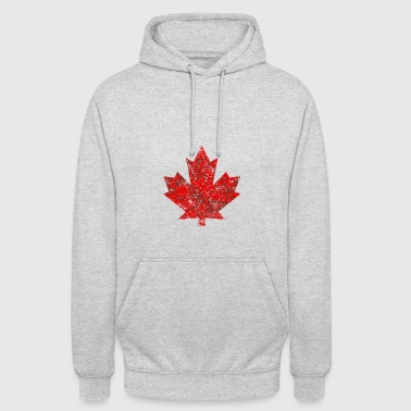 Canada Canada Maple Leaf Maple Leaf Grunge in America - Felpa con cappuccio unisex