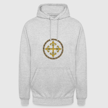 Gold celtic cross - Unisex Hoodie