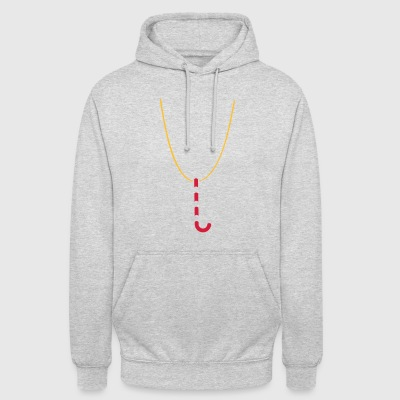 Xmas Swag: candy cane necklace - Unisex Hoodie