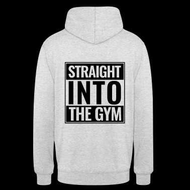 Straight Into The Gym Logo black - Unisex Hoodie