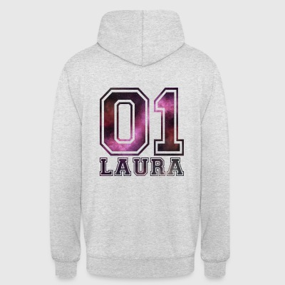 nom Laura - Sweat-shirt à capuche unisexe