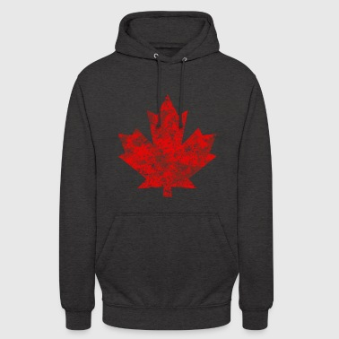 Kanada Kanada Maple Leaf Maple Leaf Grunge Ameryka - Bluza z kapturem typu unisex
