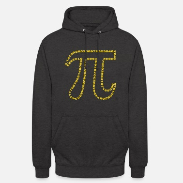 Nerd pi outline - Sweat à capuche unisexe