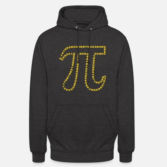 Pi Hoodies & Sweatshirts - pi outline - Unisex Hoodie charcoal grey