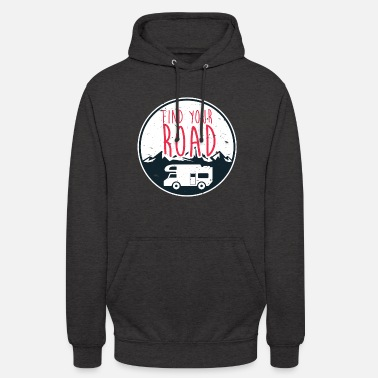 Trouvez votre route Vanlife Nomad Shirt Road Trip Van - Sweat-shirt à capuche unisexe