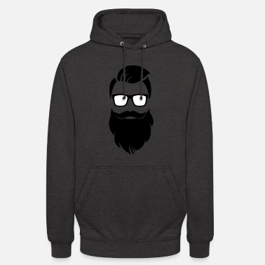 barbe Hipster - Sweat-shirt à capuche unisexe