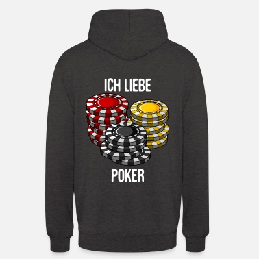 Pokerface J'adore le poker pokerface texas holdem cadeau - Sweat à capuche unisexe