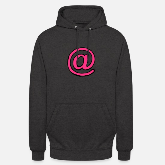 Keyboard Hoodies & Sweatshirts - Miscellaneous - At sign - sw - Unisex Hoodie charcoal grey