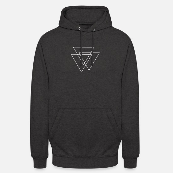 Hipster Pullover & Hoodies - triangles Valknut - Unisex Hoodie Anthrazit