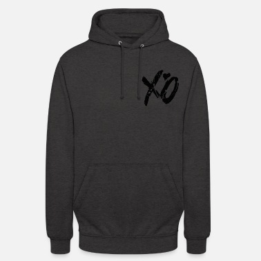 Writing xo xo - Sweat à capuche unisexe