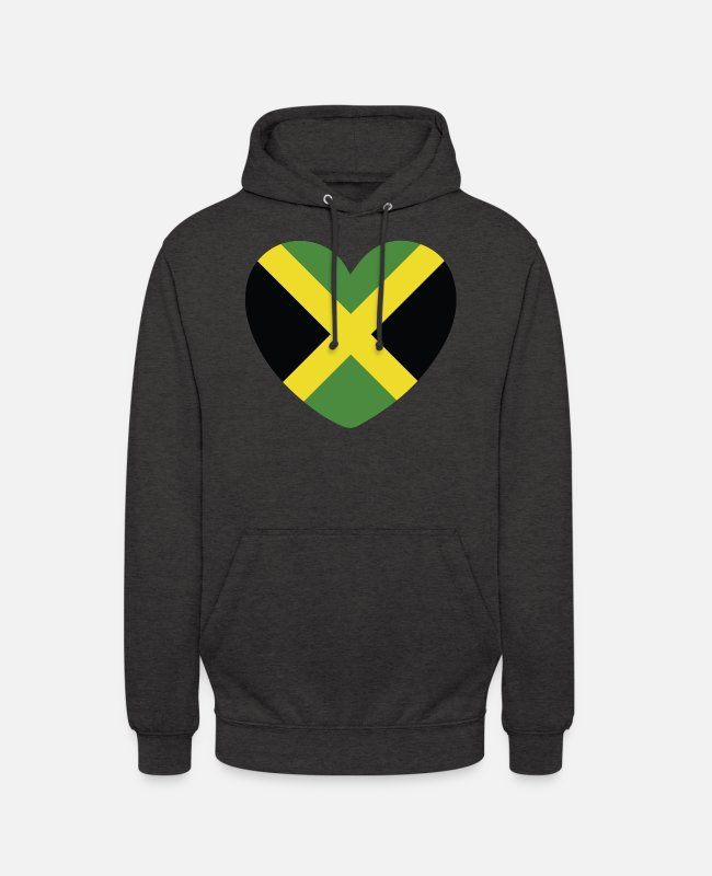 English Hoodies & Sweatshirts - COOL JAMAICA FLAG DESIGN - Unisex Hoodie charcoal grey