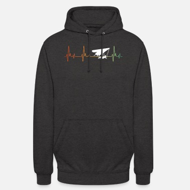 Transport Retro Hang Glider Heartbeat - Unisex Hoodie