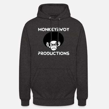Monkeybwoy productions écriture blanche - Sweat à capuche unisexe