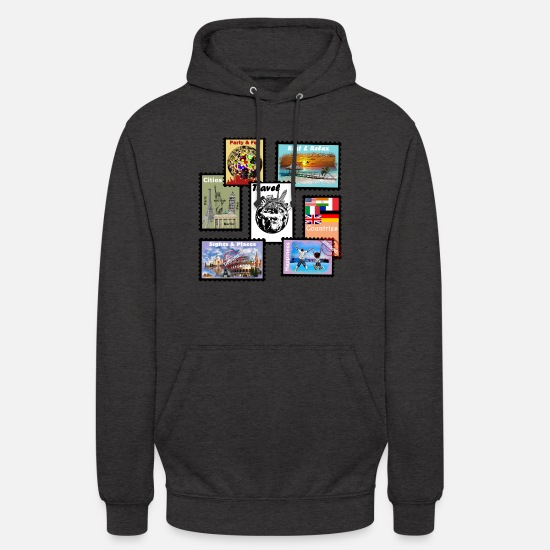 Travelcontest Pullover & Hoodies - Traveling - Unisex Hoodie Anthrazit