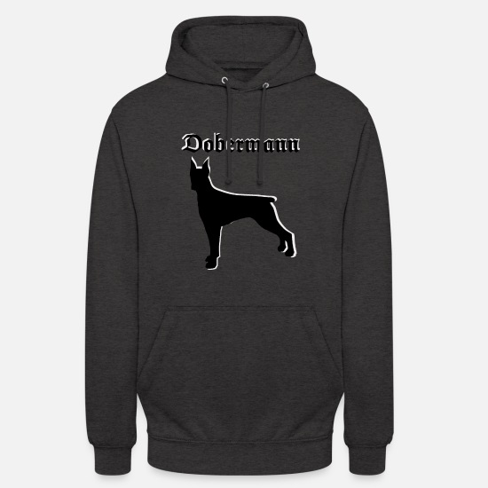 Dog Owner Hoodies & Sweatshirts - Doberman dog head, dog sports, dog owners - Unisex Hoodie charcoal grey