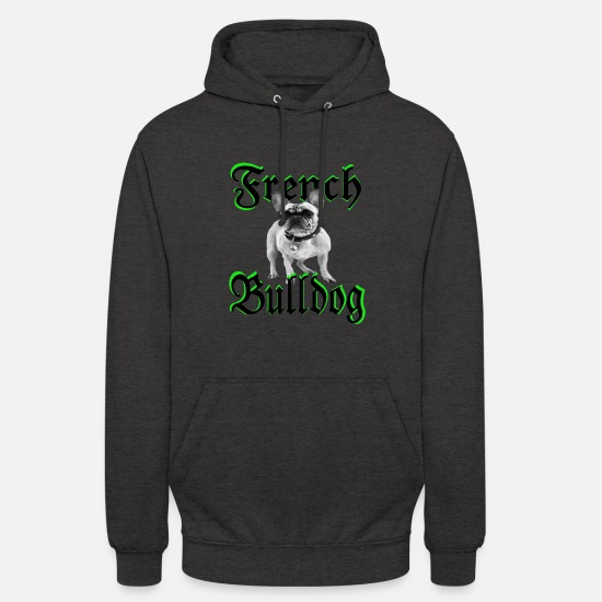 Dog Owner Hoodies & Sweatshirts - Bulldog Bulldog Dog Head Dog lover Dogs - Unisex Hoodie charcoal grey