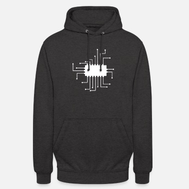 Music electronically micro shield - Unisex Hoodie