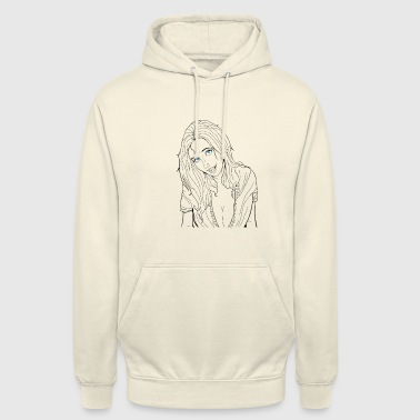 sexy black and white girl - Unisex Hoodie