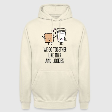 Bff We go together like milk and cookies - Sweat-shirt à capuche unisexe