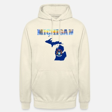 Michigan Michigan - Bluza z kapturem typu unisex