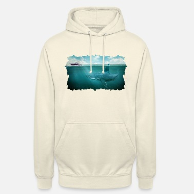 "Great White Shark Megalodon Alus Vene Underwater Great White Shark - Huppari ""unisex"""