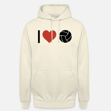 Sports I heart volleyball sport - Unisex Hoodie