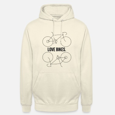 Love Bikes - Racefiets Bicycle Gift Love - Hoodie unisex