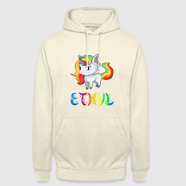 éthyl Unicorn - Sweat-shirt à capuche unisexe