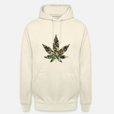 Camouflage Weed-Camouflage - Unisex Hoodie