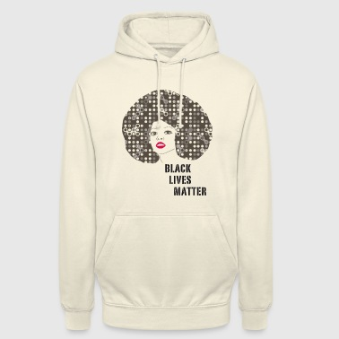 black woman afro disco 70s face party dance fun r - Unisex Hoodie