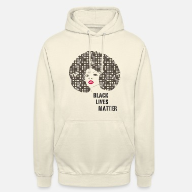 Afro black woman afro disco 70s face party dance fun r - Unisex Hoodie