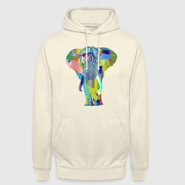 Multi Coloured Multi-Colour Elephant - Unisex Hoodie