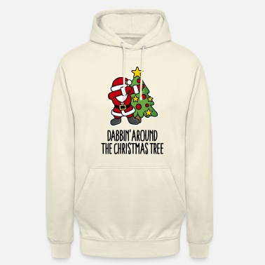 Père Noël Dabbin' around the Christmas tree - Text - Sweat-shirt à capuche unisexe